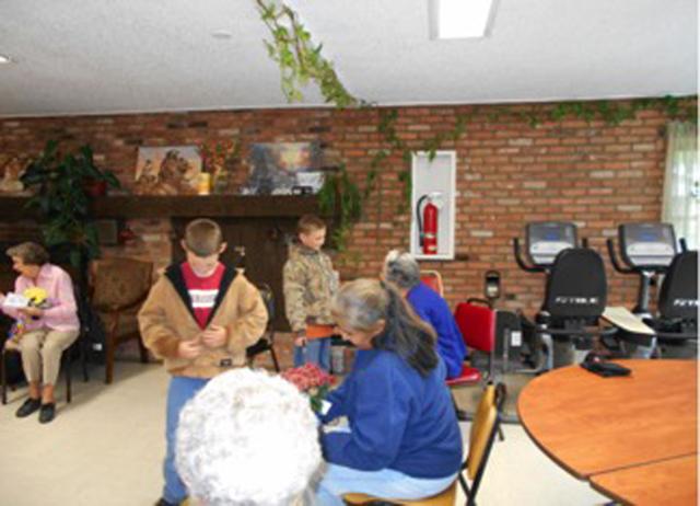 SUCAP Young Boys Visiting Senior Citizens